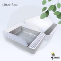 Arthacat Litter Box – Tempat Bak Toilet Pasir Kucing Besar Grey