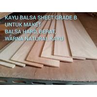 Kayu balsa sheet 2mm x 10cm kayu maket balsa keras balsa hard