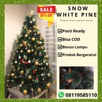 Pohon Natal Berkualitas tipe SNOW WHITE PINE TREE ukuran 6FT/180cm