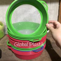 Saringan Santan Ayakan Tepung Plastik Murah - diameter 22cm