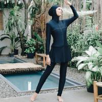OLLA RAMLAN Swimwear Basic Burqini Baju Renang Muslimah Black