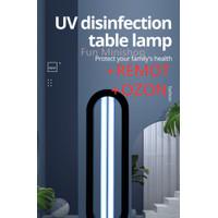 lampu UV Sterilizer Disinfection UV Light 38w remot timer anti covid - HITAM36W