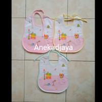Celemek bayi/slabber bayi/tatakan air liur berkualitas - Lis pink