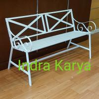 Kursi teras / taman besi 124 cm kokoh dan ekonomis - Putih