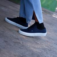 Sepatu Sneakers Vans Authentic Mono Dress Blue White Premium Quality