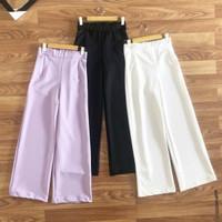 Celana Panjang Fashion Muslim Kulot Lavender