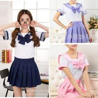 Baju Seragam Sekolah Jepang Sailor Seifuku Lengan Pendek Cosplay