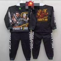 SETELAN BAJU ANAK LAKI MOTIF FREE FIRE LENGAN PANJANG USIA 1-10 TAHUN