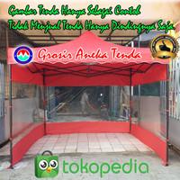 Dinding Tenda Lipat 3x3 Bahan Mika Transparan Dan Polister Tebal