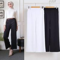 Celana Panjang Fashion Muslim Kulot Hitam