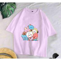Baju Atasan Tee Tshirt Kaos Oversize Wanita Dewasa Remaja ABG BTS FULL