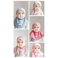Bergo Bayi Renda kepala Anak Maryam Jilbab Kerudung/anak kids renda ke