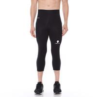 Tiento Baselayer Celana Ketat Legging Leging 3/4 Pants Black White Ori