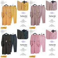 New Larissa Set Setelan Celana Wanita Modis Baju Hangout Cantik