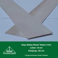 Kayu Balsa Sheet 2 mm / Balsa Lembaran / Papan / Kayubalsa