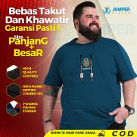 Baju Kaos Oversize Jumbo Pria Locked T Shirt Distro Big Size Dewasa - ITB, 2XL