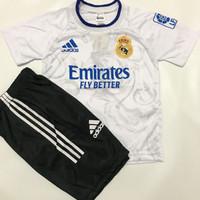 BISA COD/ stelan baju bola anak musim terbaru 2021/2022/ jersey anak - Madrid putih, 4