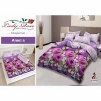 Bedcover set ukuran 160x200 cm Lady Rose queen size 160 no 2 original