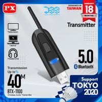 USB Bluetooth Transmitter Audio Tanpa Driver 5.1 HD Stereo PX BTX-1100