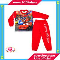 Kaos Setelan Piyama Baju Tidur Anak Laki Laki Umur 1-10 Tahun Cars 95