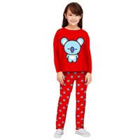 Setelan Baju Tidur Anak Perempuan/Piyama Panjang Anak Perempuan 3-12th - PJMKOA30, S