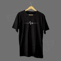T-shirt Kaos Pria Wanita Gambar DETAK JANTUNG