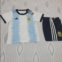 Jersey Anak Baju Argentina Kids Jersey Bola Messi Aguero Dybala II