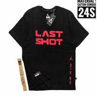 kaos lengan pendek JORDAN LAST SHOT(harga cuci gudang) - Hitam, M