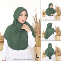 Hijab Instant Bergo Kaos Antem Tali (topi-pet) L XL - L