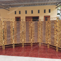 Partisi   Sketsel   Penyekat Ruangan   Pembatas Ruangan Bambu 8 Pintu