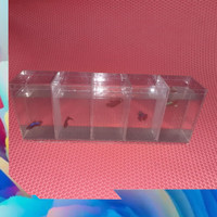 aquarium akrilik soliter cupang 5 sekat