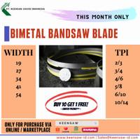 Bimetal Bandsaw Blade KEENSAW (2360 x 0.9 x 19) gergaji pita band saw