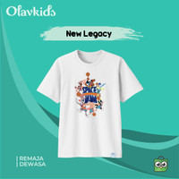 Baju Kaos New Legacy Remaja Dewasa Bahan Katun Combed 30s Premium - New Legacy, Remaja 3XS