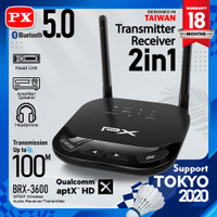Bluetooth Audio Transmitter Receiver 5.0 HD stereo 2in1 PX-BRX-3600