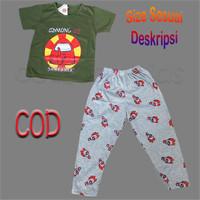 Setelan Baju Tidur Anak Cowok size 4-14 tahun Among 2