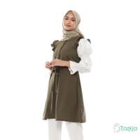 Atasan Muslim Wanita | Aurora Tunik Hijau| M L XL | Tazkia Hijab
