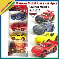 PAKET 4PCS MOBIL BALAP Pullback KARAKTER CARS Mainan mobil mobilan
