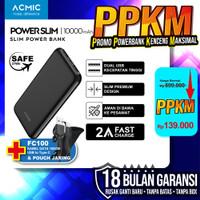 ACMIC PowerSlim 10000mAh Slim PowerBank 2A Fast Charge