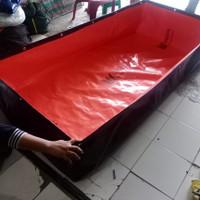 terpal kolam ikan tipe a5 korea ukr panjang 4m lebar 3m tinggi 50cm