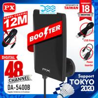 Antena Tv Digital +Kabel 12 meter & Booster Indoor Outdoor PX DA 5400B