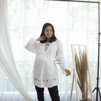 Baju Atasan Ibu Hamil Menyusui Kerja Muslim JUMBO Casual - BHJ 102