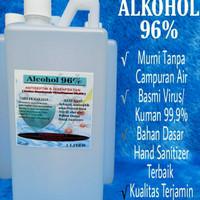 ALKOHOL 96% 1 LITER MURNI TANPA CAMPURAN ( ANTISEPTIC & DISIFEKTAN )