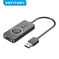 USB Sound Card External Stereo Audio Mic Splitter Adapter Converter - CDR, 0.15 Meter