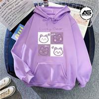 [COD] Baju Anak Perempuan Cute Bear Hoodie Anak Cewek Umur 6-10