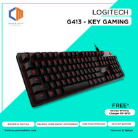 Logitech G413 Mechanical Backlit Gaming Keyboard / free w.less charger
