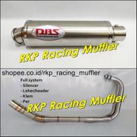 Knalpot racing DBS titan stainless CBR250RR Ninja 250 R Fi R25 MT25