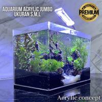 Aquarium Acrylic Soliter Ikan Cupang Ukuran S M L Akuarium Besar Murah
