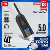 USB Bluetooth Transmitter Audio Tanpa Driver 5.0 HD stereo PX BTX-1100