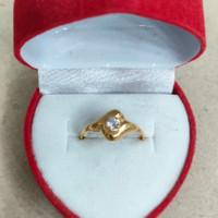 cincin anak model wajik mata putih 1/2 gram emas muda