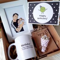 Gift Box Hampers Hadiah Ulang tahun, wisuda, anniversary ilustrasi